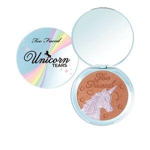 NIB Too Faced Unicorn Tears iridescent bronzer